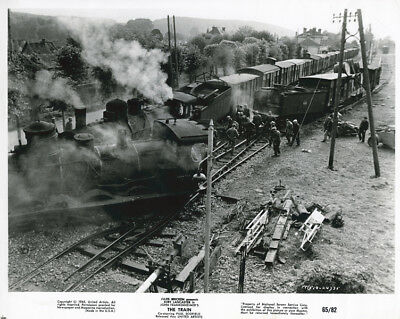 The Train original 1965 8x10 photograph train derailment and crash at station