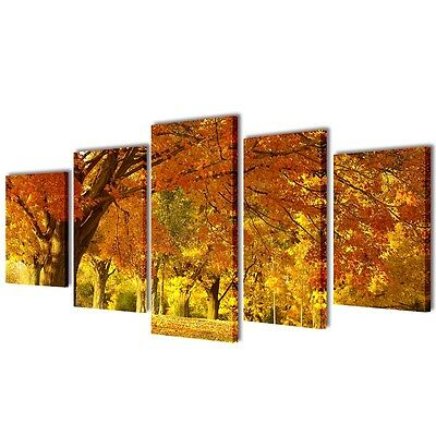 Set of 5 Maple Canvas Prints Framed Wall Art Decor Painting 100x50cm Living Room