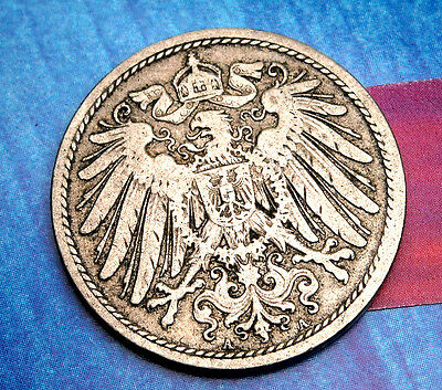 XX-RARE 1900-A German Empire Reich 10 Pfennig Germany COIN Antique ReichsPfennig