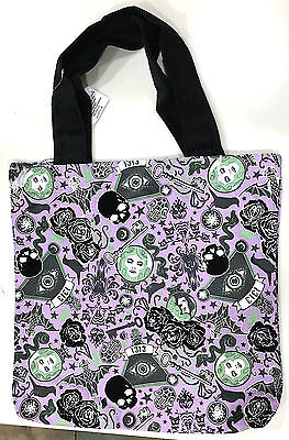 Disney Parks  Haunted Mansion Halloween Large Treat Bag Tote  NEW