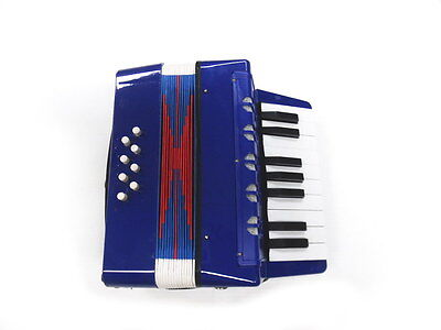 MDA JUNIOR BUTTON/PIANO ACCORDION Blue Pearl *17 Treble & 8 Bass Buttons* NEW!