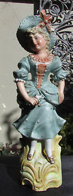 Stunning Victorian Continetal Bisque Figure Of A Girl