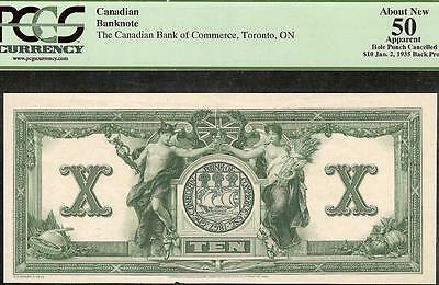 1935 $10 Proof Canadian Bank Of Commerce Canada Currency Note Paper Money Pcgs