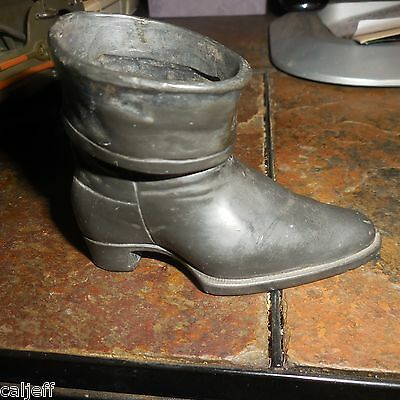 1950 Victorian Boot Cast pot metal Display Art JB Jennings Brothers