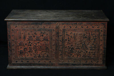 19th Century, Mandalay, Antique Burmese Wooden Chest