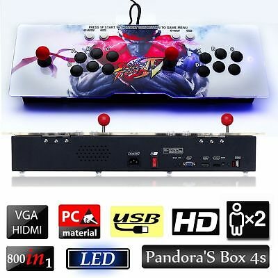 800 Video Games Metal Double Stick Home Arcade Console Kit Pandora's Box 4S