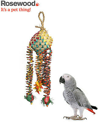 Woven Wonder Diamond Bouncer Parrot Shredding Preening African Grey Cage Toy 14