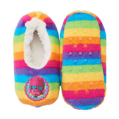 Trolls  Poppy Girls Fuzzy Slipper Socks/slippers Size 2T-3T/shoe 4.5 - 7.5 Nwt