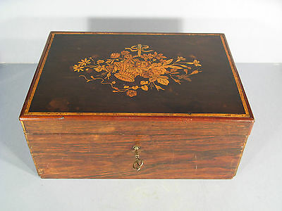 BOXSET OLD MARQUETRY / BOX IN ROSEWOOD TIME 19th CENTURY