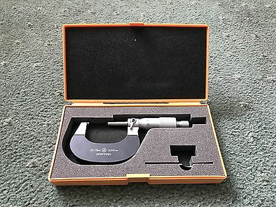 Mitutoyo 25-50Mm Good Condition With Box And Setting Gauge.