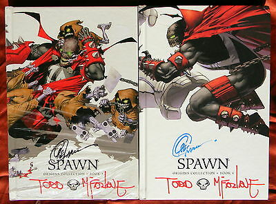 SPAWN VOL. 1-9 HARDCOVER SIGNED TODD McFARLANE CAPULLO AUTHENTICATION PRIORITY