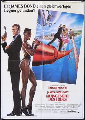 542 VIEW TO A KILL German  '85 art of Moore as Bond 007 & sexy Grace Jones