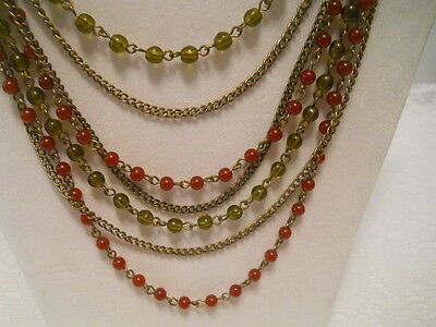 Vintage  Retro Multi Chain Avon Necklace