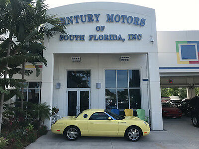 2002 Ford Thunderbird Base Convertible 2-Door Leather CD Clean CarFax Convertible Top