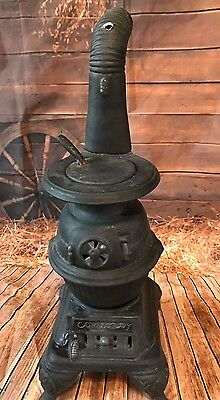 "Vintage  Pot Belly Stove Ceramic 22"" tall"