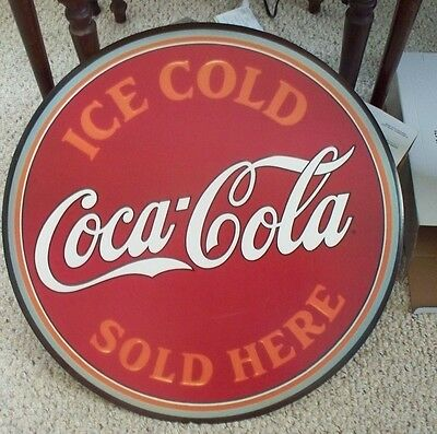 """Coca-Cola Ice Cold Sold Here Cardboard Cut Out 23"""""""