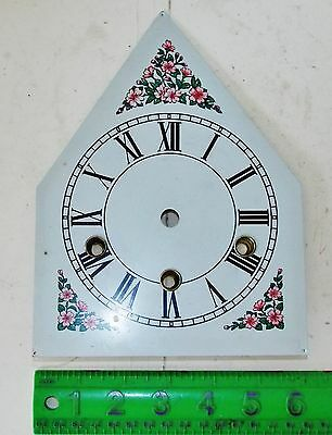 Steeple Clock Replacement Metal Pan Dial Parts No Reserve