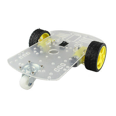 Motor Smart Robot 2WD Car Chassis Kit Speed Encoder Battery Box For Arduino