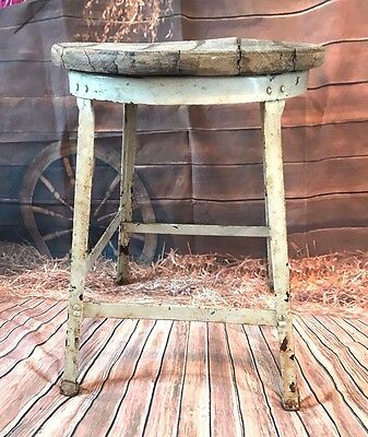 Vintage Industrial Farm Milking Stool,Mid-Century Modern Chair,Rustic