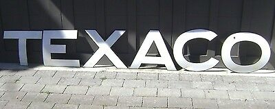"'41 TEXACO 16"" letters SIGN --- 1941 curved porcelain Tanker Truck sign --- RARE"