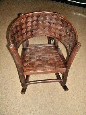 Child Size RUSTIC ROCKING CHAIR.