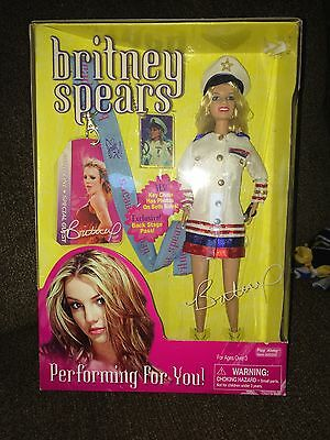 2001 Play Along ~ Britney Spears Performing For You Doll  ~NIB