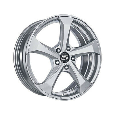 ALLOY WHEEL MSW 47 7.5x17 ET 35 TOYOTA PRIUS 5x114,30 FULL SILVER 4D6