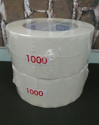 """Lot of 2 NEW Uline Mailing Labels Clear Acetate 2"""" 1000 Roll"""