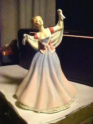 "Vintage 8 3/4"" Tall Royal Doulton England China JUNE Lady Woman Figurine HN 2991"
