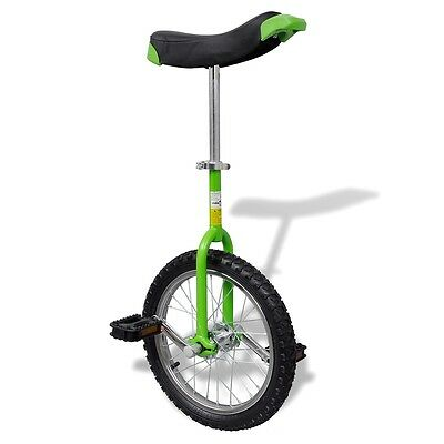 """Green 16"""" Fun Unicycle Uni Cycle Scooter Circus Pro Bike Youth Adult Fitness"""