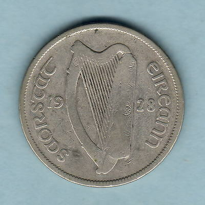 Ireland. 1928 Halfcrown..  aFine
