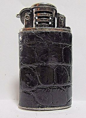 Windproof Lighter, Leather Wrap, Flint And Wick, Double Case, NOS