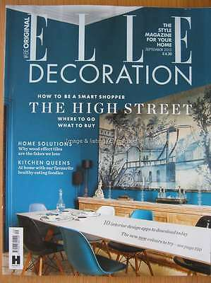 Elle Decoration September 2015 How to be a Smart Shopper on the High Street