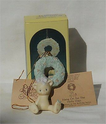 1988 Precious Moments Ornament Hang On For The Holly Days