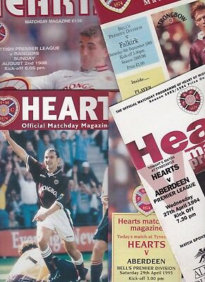 Heart of Midlothian Home Programmes 1993-1999