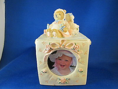 Ceramic Baby Design Photo Cube, Pastel Colors, Hand Painted