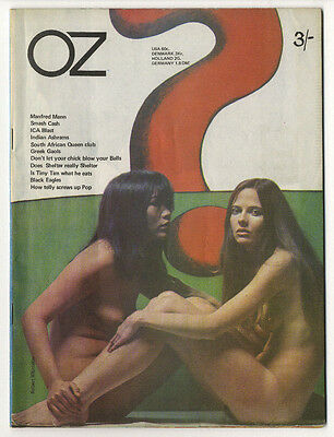 OZ Magazine No. 17 (Dec 1968) Louise Ferrier and Jenny Kee front cover