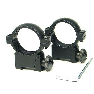"Tactical QD 1"" 25.4mm Low Profile Scope Ring Mount Fit 11mm Rail For Hunting"