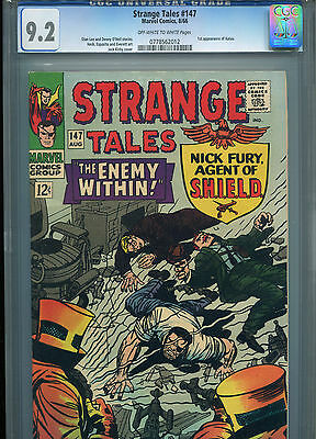 Strange Tales #147 - 1966 - Super High Grade Cgc 9.2 - Doctor Strange-Nick Fury