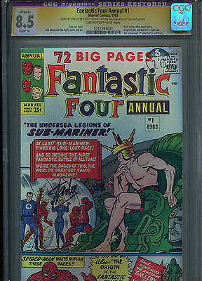 Fantastic Four Annual #1 - Hot Key - 1963 - Cgc 8.5 - Signed Stan Lee