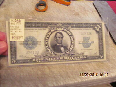 1923 $5 Large Size Silver Certificate Port Hole Low Serial #  Great Condition!!