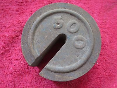 Antique 500 Cast Iron Hanging Platform Stacking Scale Counter Weight