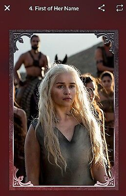 QUIDD Game Of Thrones Stormborn FIRST OF HER NAME Card [Digital]
