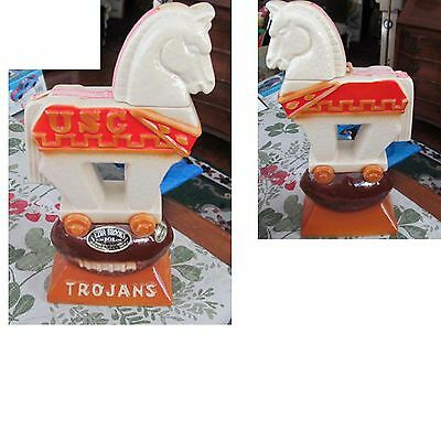 Cool Vintage 1974 Ezra Brooks USC TROJANS Liquor Decanter Heritage China