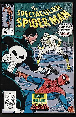 The Spectacular Spider-Man #143  Marvel Comics 1988 The Punisher