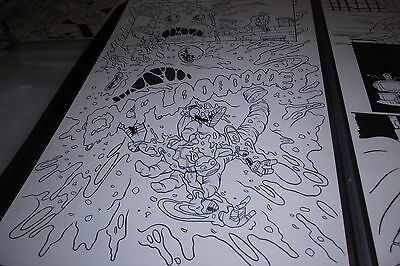 TMNT New Animated Adventures 20 pg 10 Original Comic Art Pizza Face, Mike LOOK!