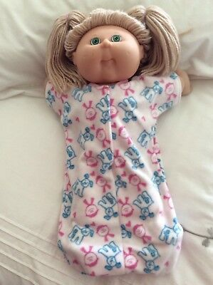 "DOLLS CLOTHES TO FIT 16"" CABBAGE PATCH Sleeping Bag - Pink / Kids - Blue Dogs"