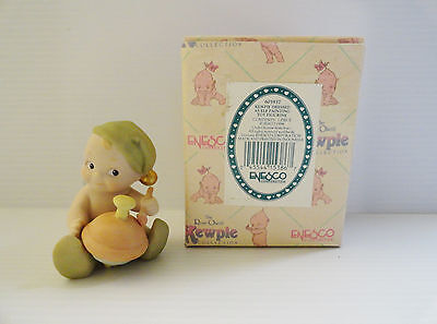 Enesco Kewpie Rose O'Neill Elf Painting Toy Figurine 603937 Jesco 1994