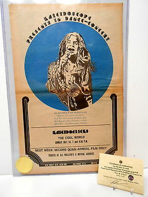 Original Poster SZ Big Brother & The Holding Co Janis Joplin Concert Ad 1968