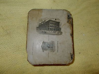 Tiffin Oh Printing Lithograph Stone Kildow Cigar Factory + Fremont Oh Bank 1890?